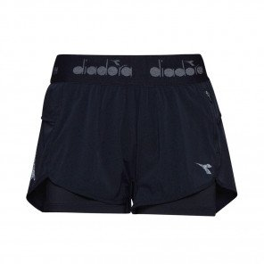 DIADORA L. DOUBLE LAYER SHORTS HOMME| BLACK | Collection Printemps-Été 2019