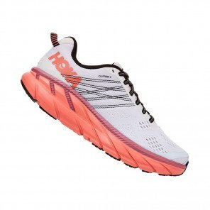 HOKA CLIFTON 6 WIDE FEMME | Nimbus Cloud / Lantana