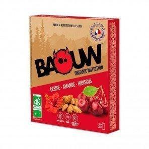 BAOUW Barres énergétiques bio | Cerise - Amande - Hibiscus | Pack de 3