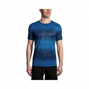 BROOKS TEE-SHIRT MANCHES COURTES GHOST HOMME | AZUL HAZE