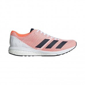 Adidas Adizero Boston 8 Femme - Orange/Blanc