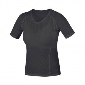 GORE®  BASE LAYER MAILLOT MANCHES COURTES FEMME | BLACK | Collection Printemps-Été 2019