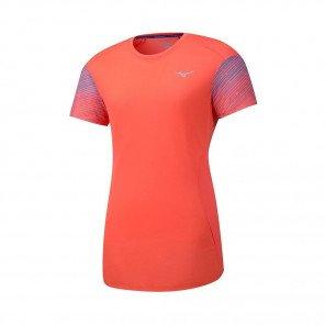 MIZUNO Tee-Shirt manches courtes AERO PREMIUM Femme   Hot Coral   Collection Printemps-Été 2019