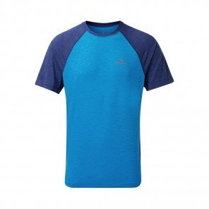 RONHILL T-SHIRT MANCHE COURTE MOMENTUM Homme | ELECTRIC BLUE/MIDNIGHT BLUE
