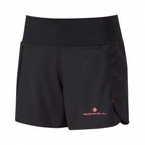 RONHILL SHORT REVIVE STRIDE Femme | BLACK/HOT CORAL